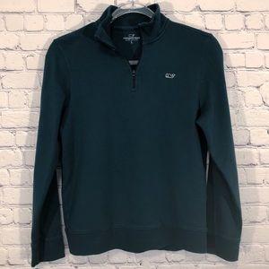VINEYARD VINES | hunter green logo pullover L